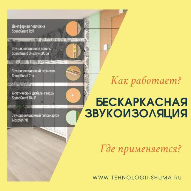 """⭕️БЕСКАРКАСНАЯ ЗВУКОИЗОЛЯЦИЯ СТЕН ⠀ ЧТО ЭТО❓ 🔜Тонкая система для звукоизоляции межкомнатных стен и перегородок в квартирах, загородных домах и нежилых помещениях. ⠀ 🔨Применяется в основном на ЛЕГКИХ МАТЕРИАЛАХ(гипсовые плиты, позагребень). 🧱Для того чтобы нагрузить( дать массу) перегородку. 🔍Делается это разносортными материалами( демпферное полотно, звукоизоляционные мембраны /панели и звукоизоляционный гипсокартон. ⠀ 🔜Отличается быстрым и простым монтажом ⠀ ⭕️Проконсультироваться или заказать материал и монтаж вы можете в онлайн-магазине https://tehnologii-shuma.ru или по телефону +7(965) 534 64 48 ⠀ *🔜При покупке материалов на сумму от 50 000₽ предоставим скидку! ⠀ ________________________ Компания """"Технологии шума"""" @tehnologiishuma 👈🏻 ⠀ ✔️Звукоизоляция ✔️Акустические материалы ✔️Виброизоляция ✔️Шумопоглощение ✔️Монтаж ⠀ 🔻Опытные инженеры 🔻Профессиональные консультации менеджера 🔻Квалифицированные  бригады по монтажу ⠀ ⚒Постоянно поддерживаем наличие на складе ☝️Более 5 лет на рынке ⠀ www.tehnologii-shuma.ru zakaz.shum@bk.ru _________________________ #бескаркаснаясистема#звукоизоляциястен#SOUNDGUARD#ТЕХНОСОНУС #TECHNO_SONUS #инстатаг #инста #день #лайки #жизнь"""